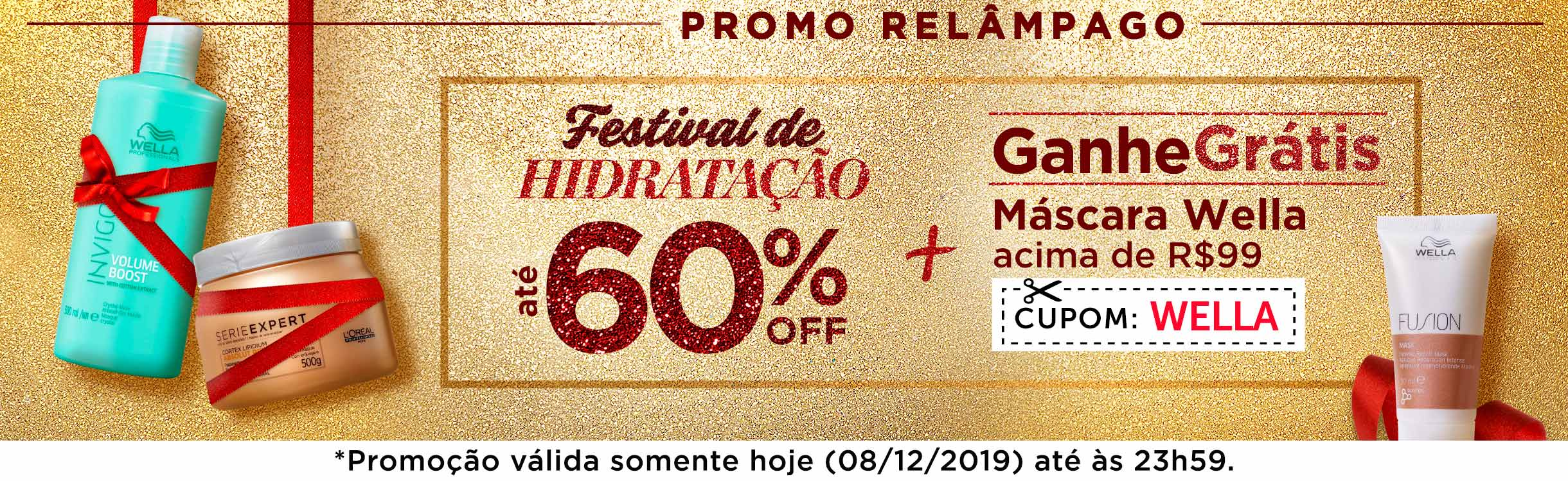 Festival da Hidratação até 60% OFF!