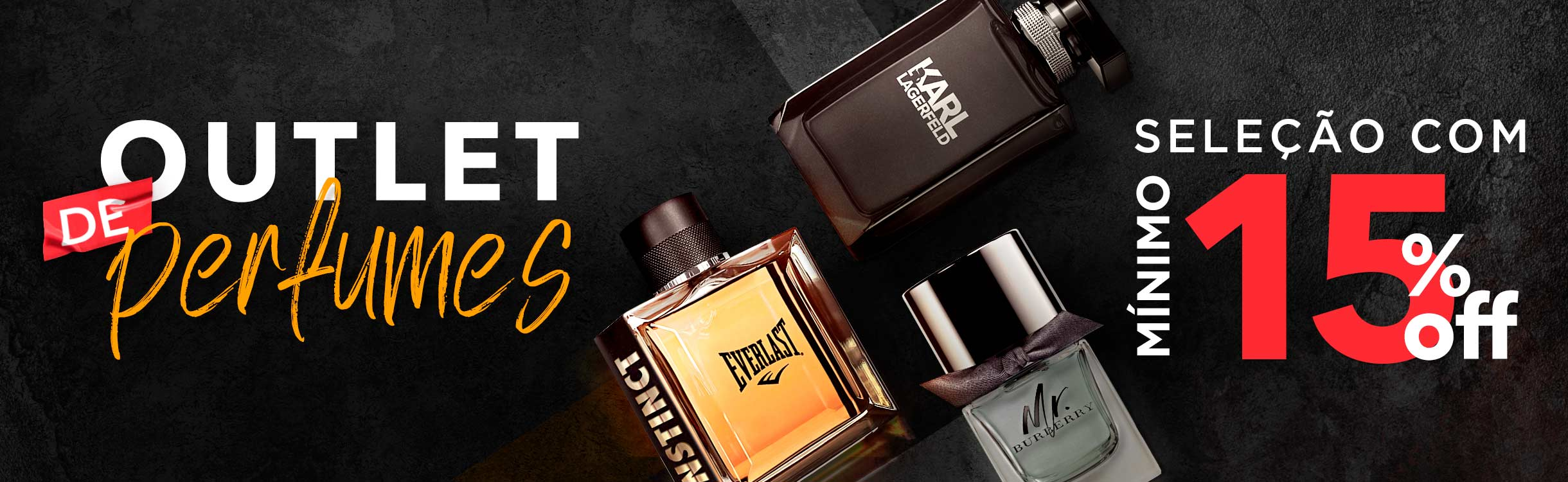 Seleção de perfumes masculinos mínimo 15% off