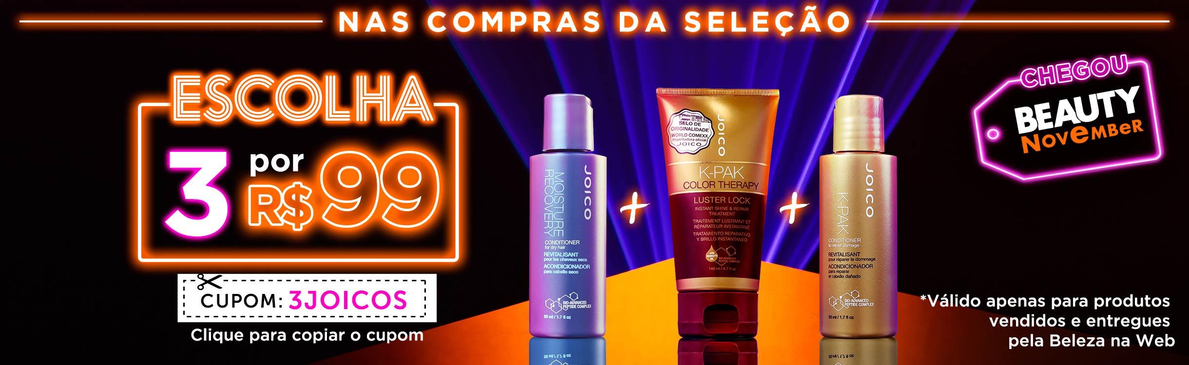 Beauty Friday | 3 Joicos por R$ 99