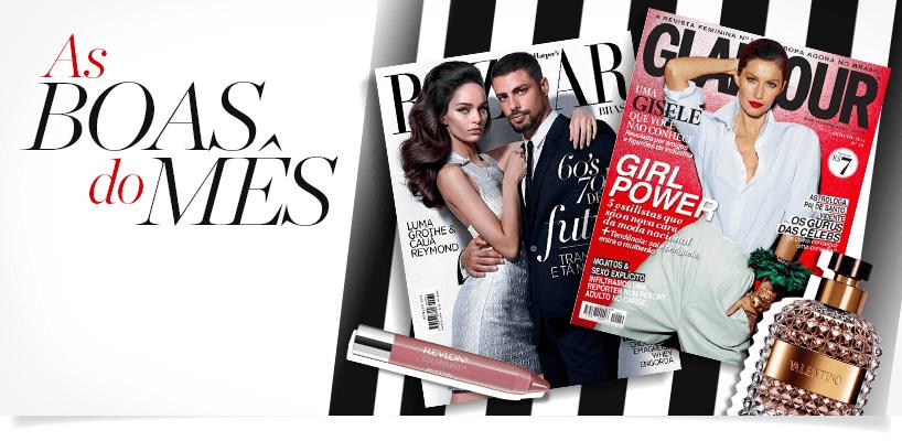 Tendências de beleza nas revistas banner