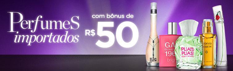 Perfumes Importados com Bônus de R$50