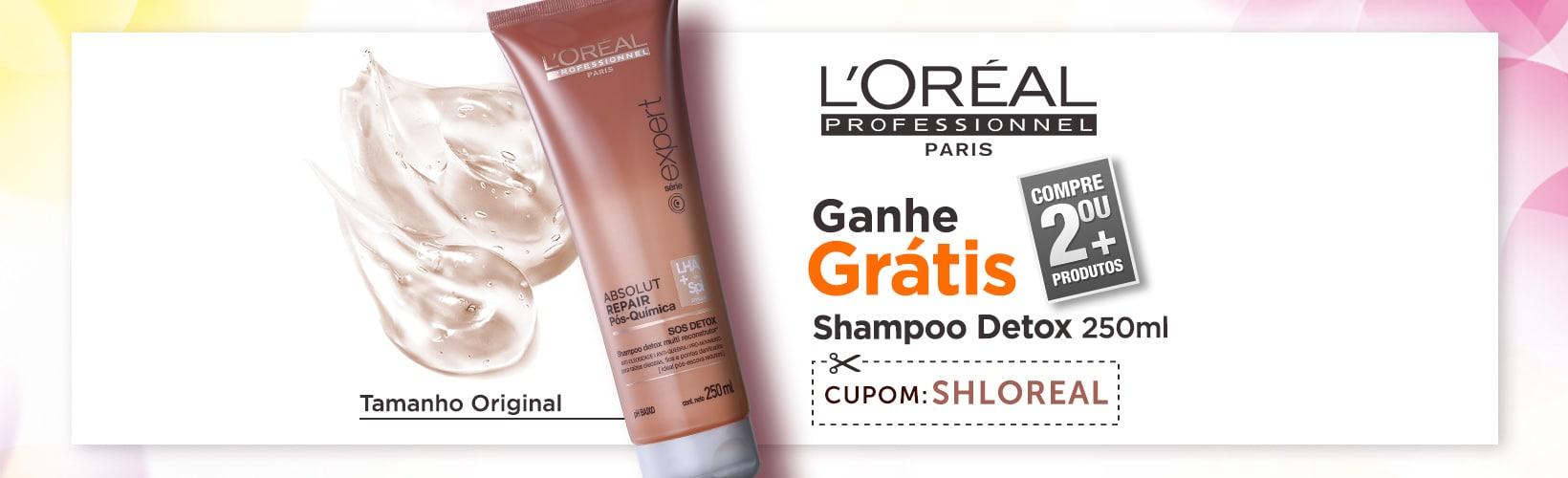 Compre 2 ou + Produtos L'Oréal e Ganhe Shampoo Detox 250ml
