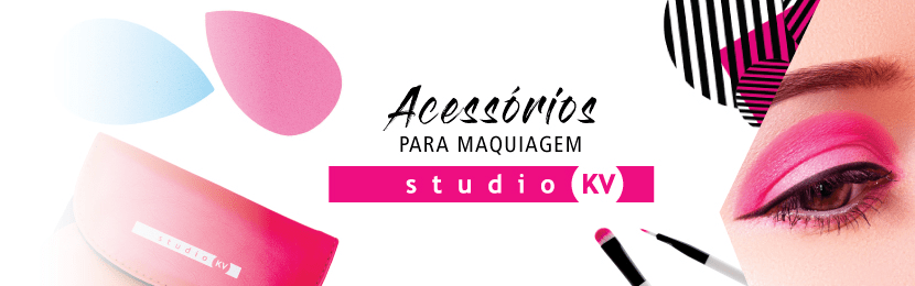 Kits Studio KV de Pincéis para Maquiagem