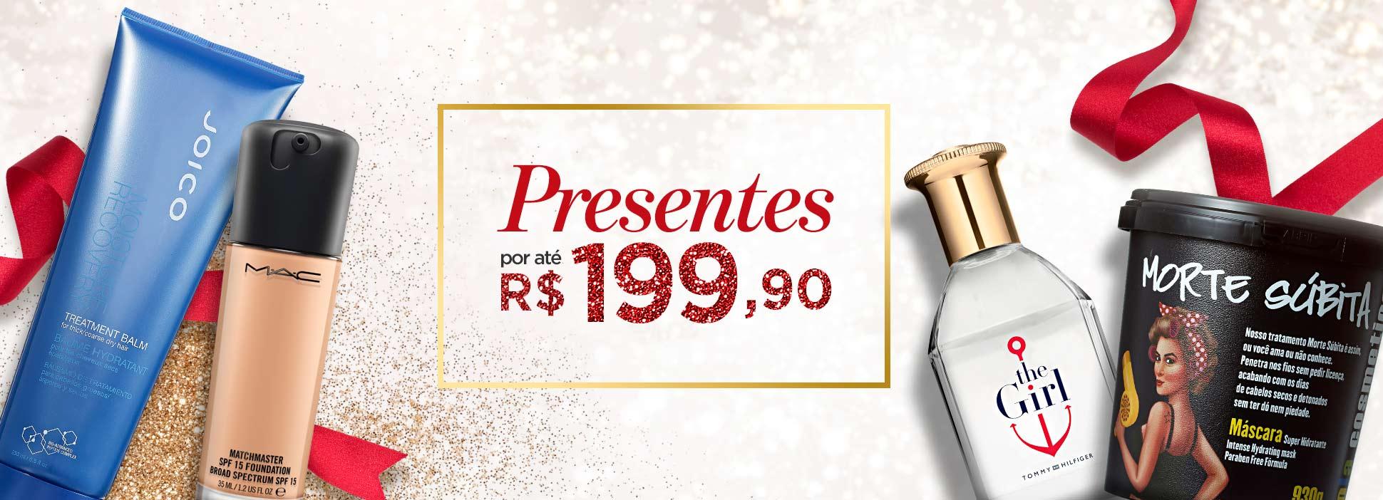 Presentes por até R$199,90