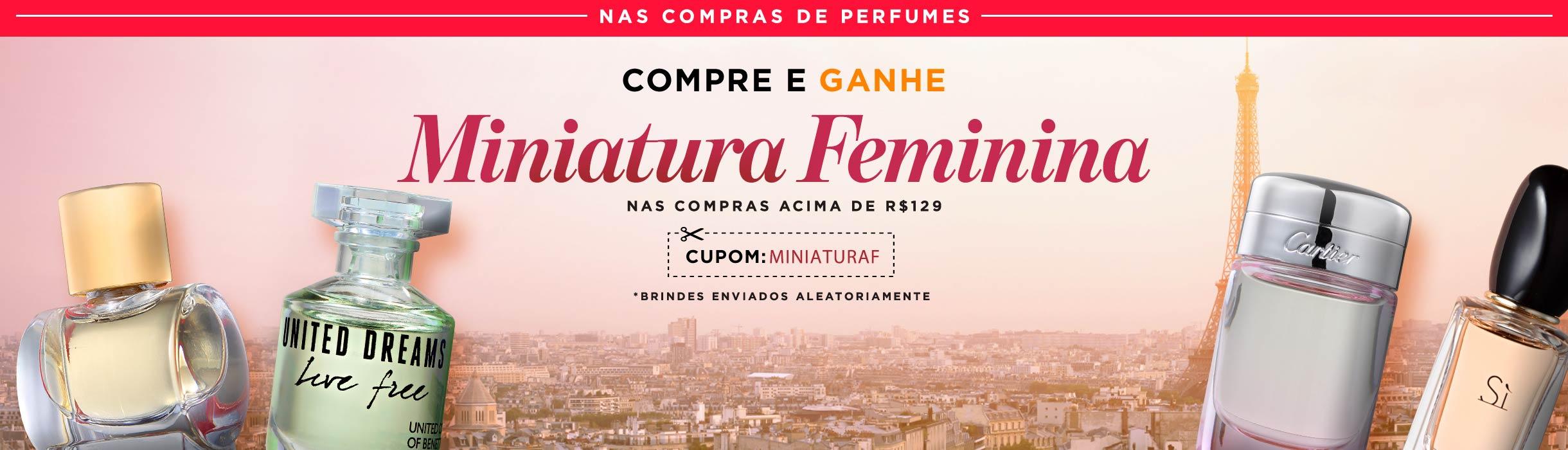 Ganhe Miniatura Perfume Feminina