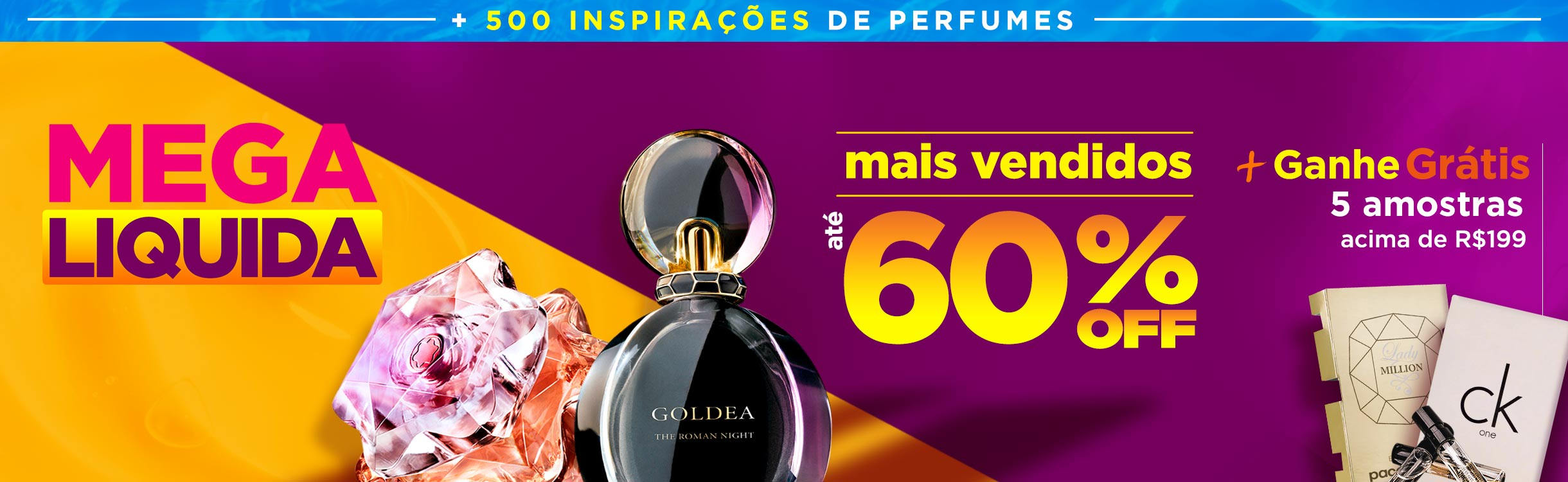 Perfumes até metade do preço
