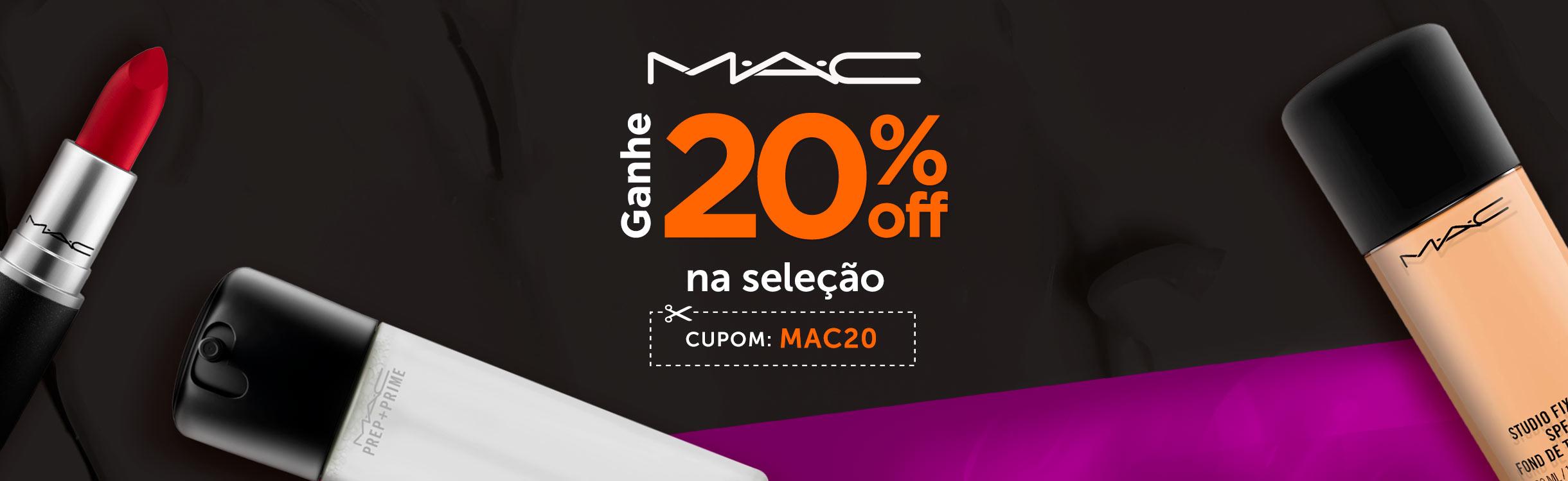 M·A·C com 20% off extra!