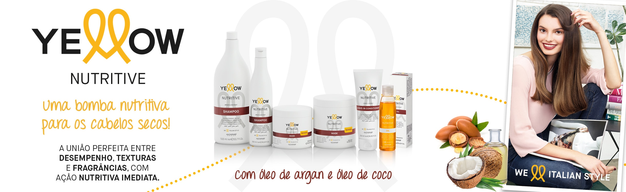 Yellow Leave-In e Creme para Pentear