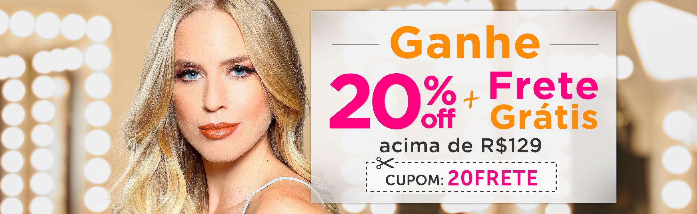 20% OFF Extra + Frete Grátis