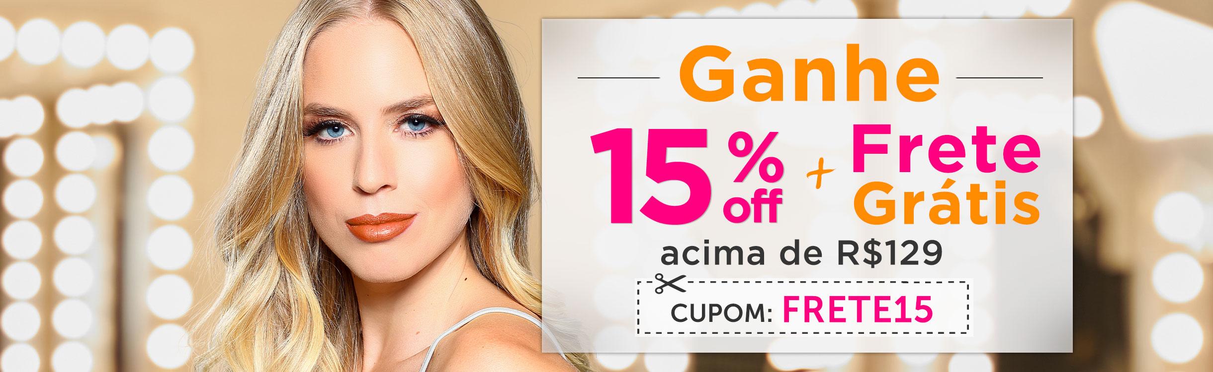15% OFF Extra + Frete Grátis