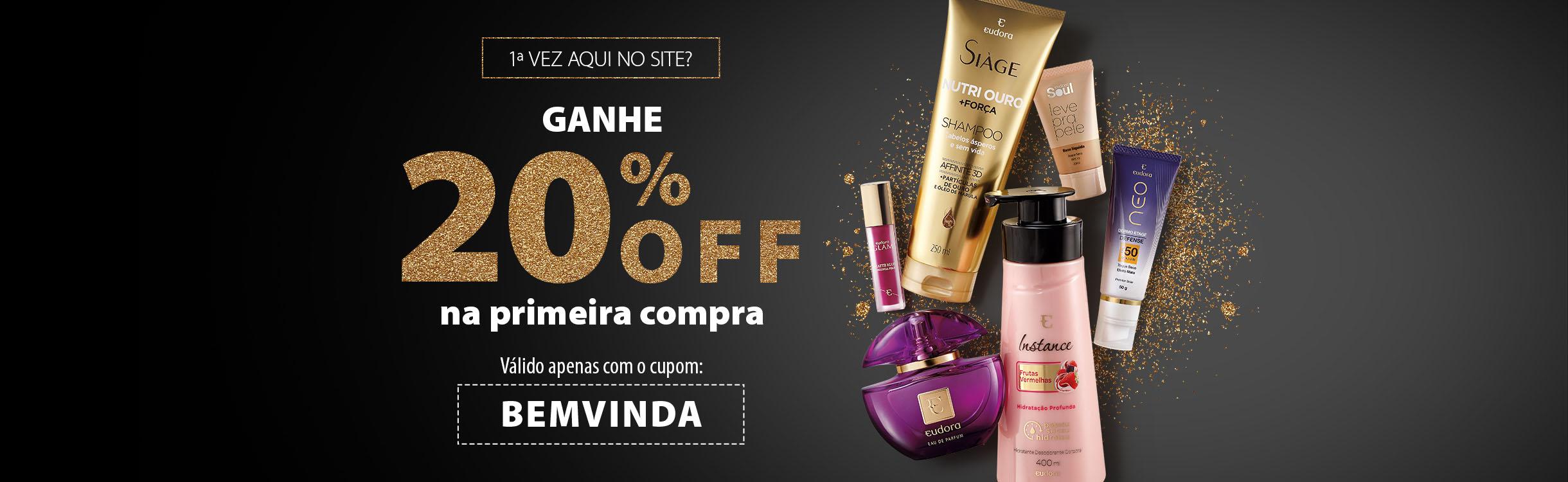 20% OFF Primeira Compra