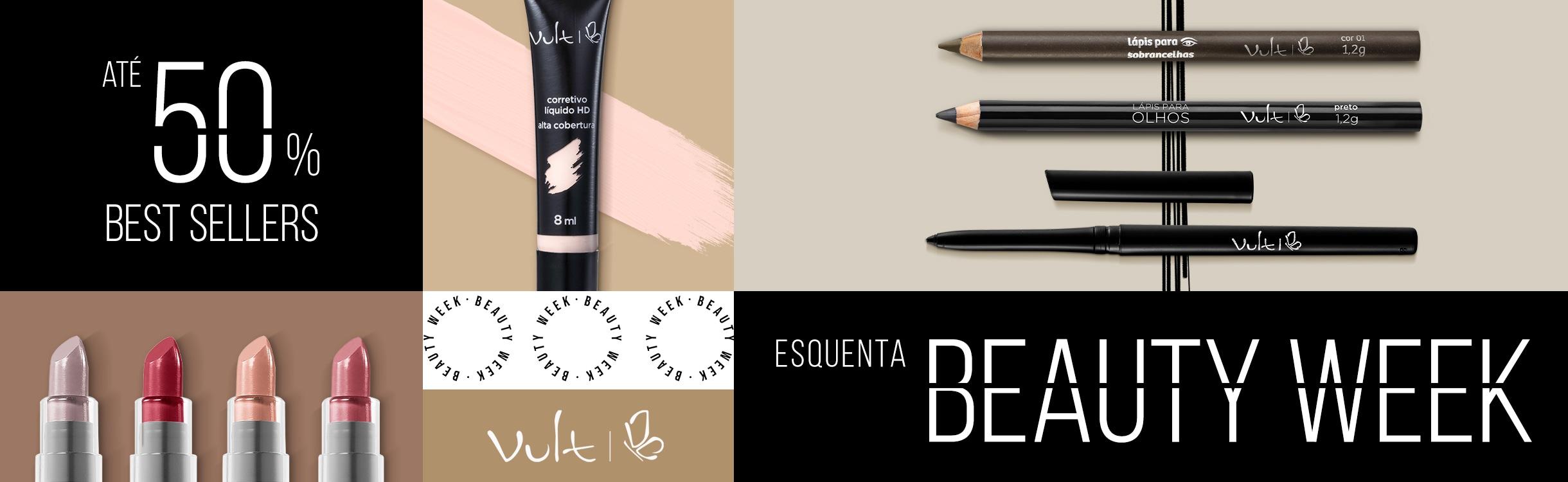 Esquenta Beauty Week: Best Sellers com até 50%OFF