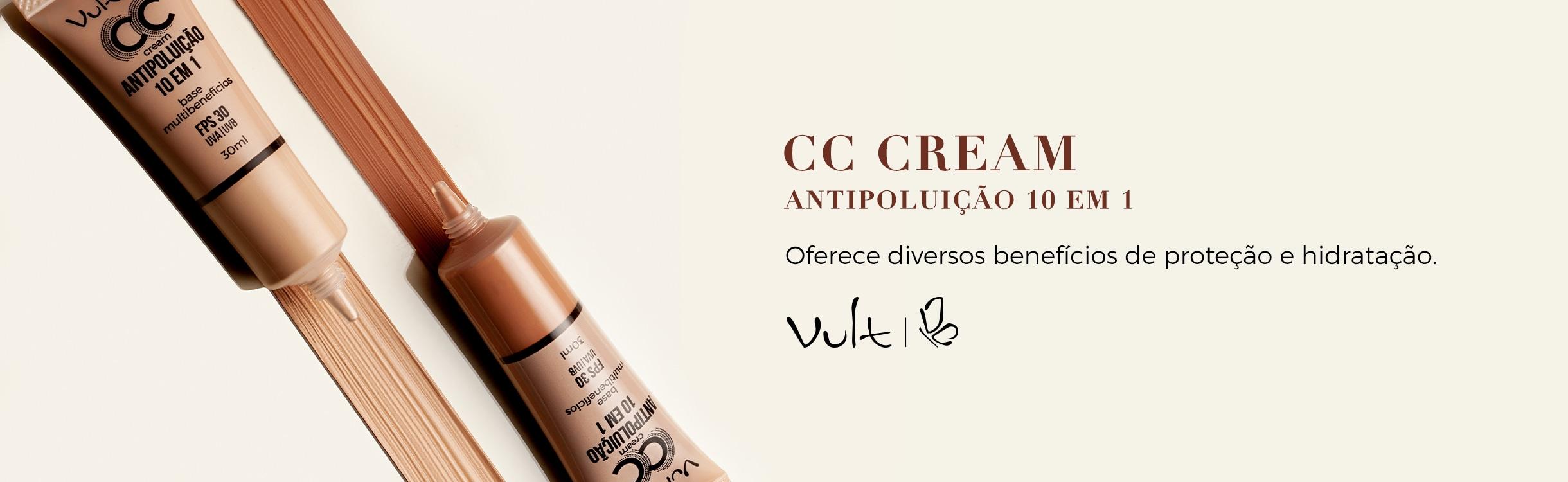 BB Cream e CC Cream para o Rosto Vult
