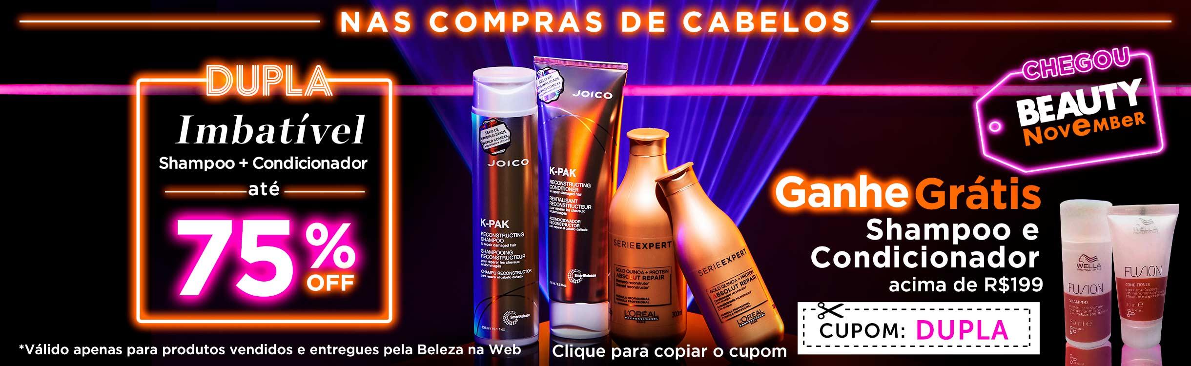 Beauty Friday   Shampoo + Condicionador até 75% off