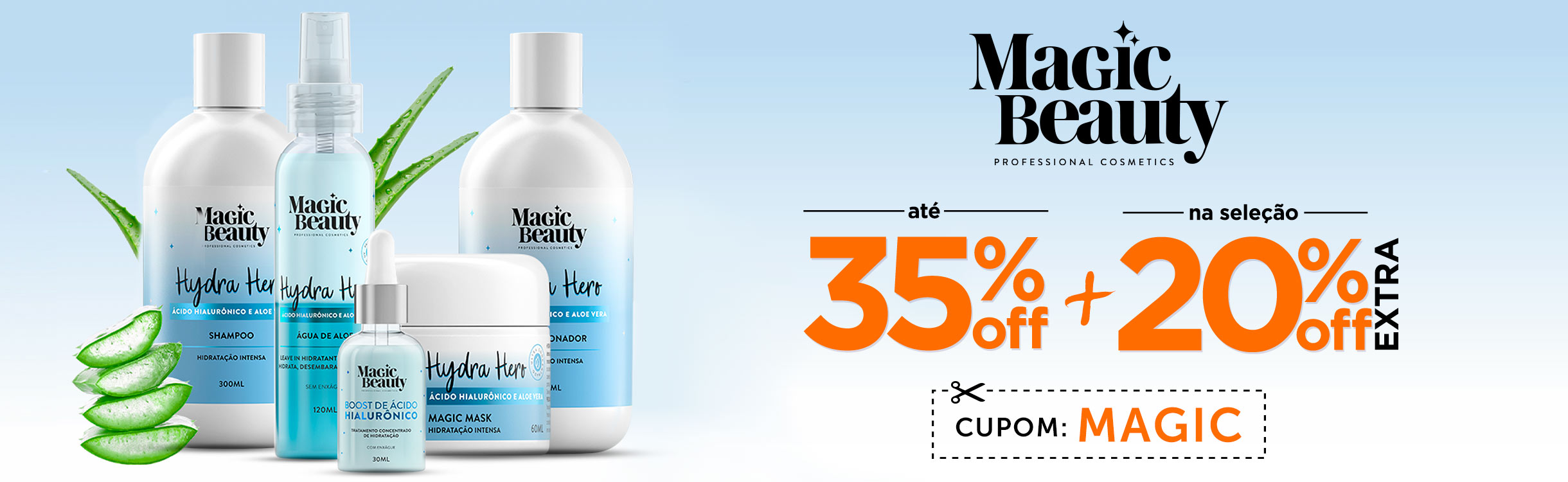 Magic Beauty com 36% OFF + 20% OFF Extra