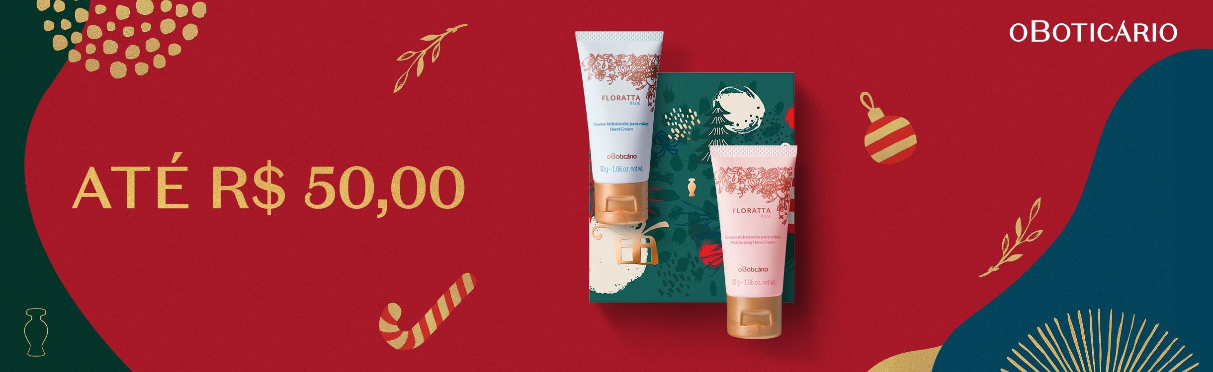 Natal O Boticário - Presentes de até R$50,00