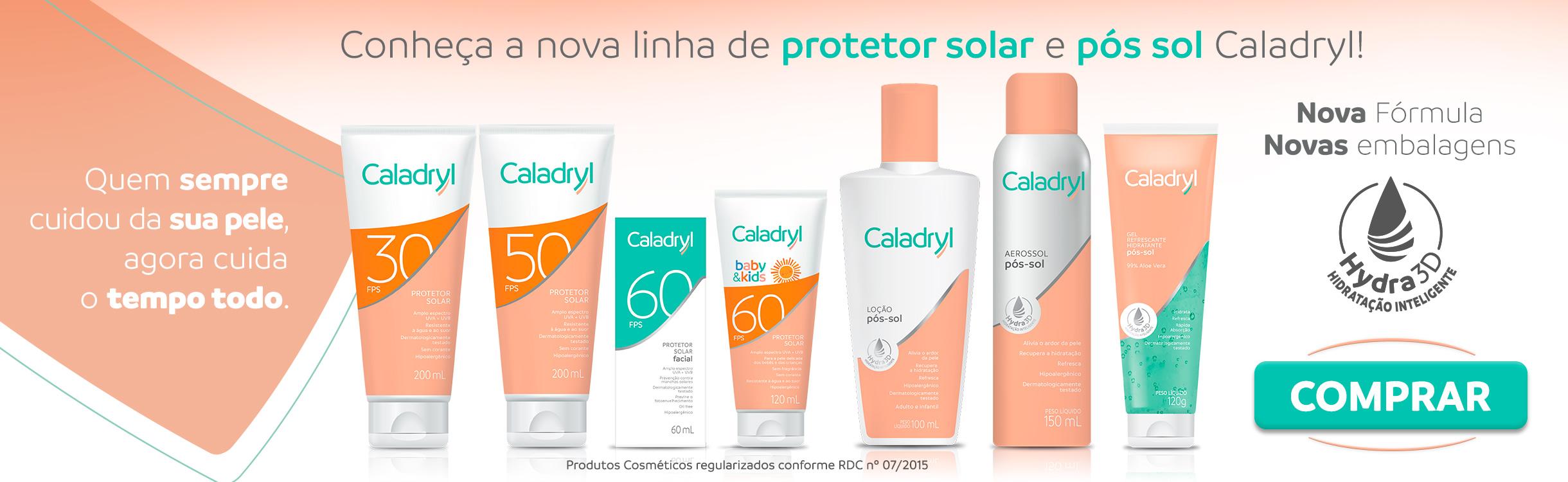 Protetor Solar e Bronzeamento Caladryl