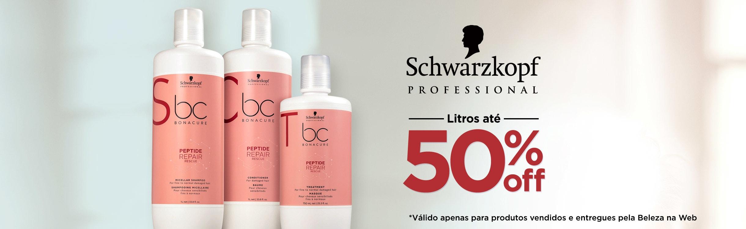 Litros de Economia Schwarzkopf Professional até 50% OFF