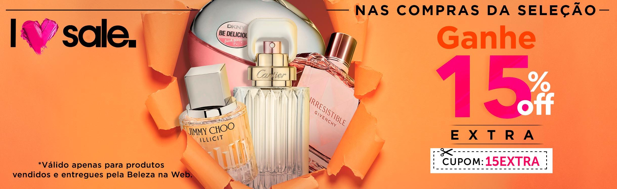 Love Sale | 15% Extra na Seleção de Perfumes