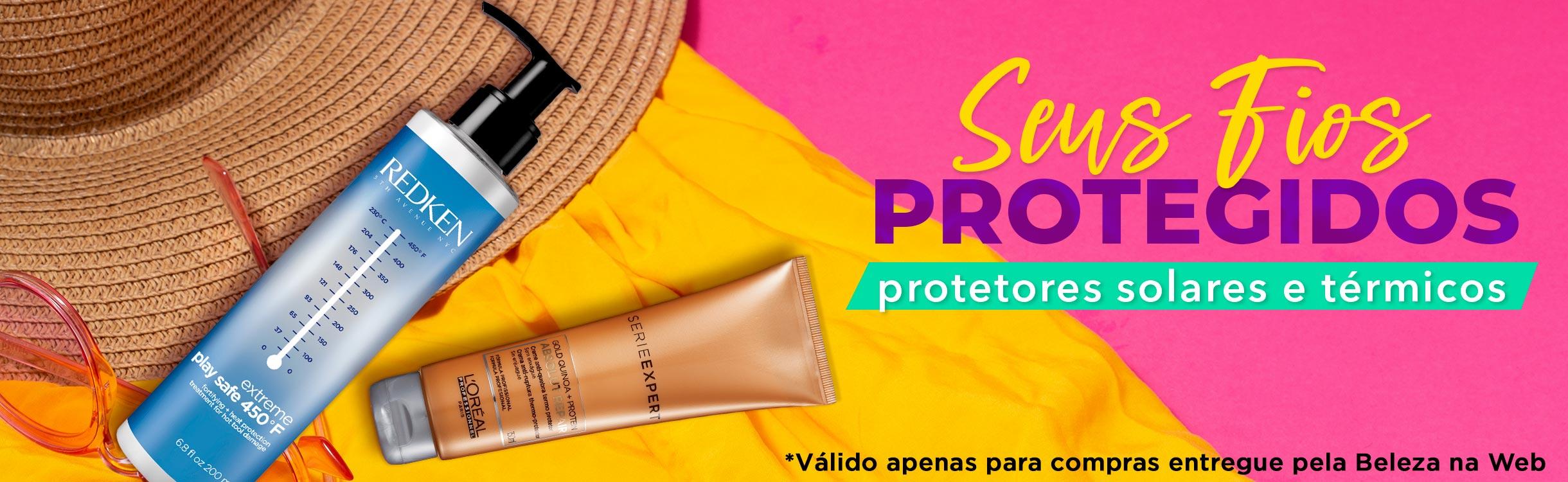 Seus Fios Protegidos no Verão | Protetores Solar e Térmicos