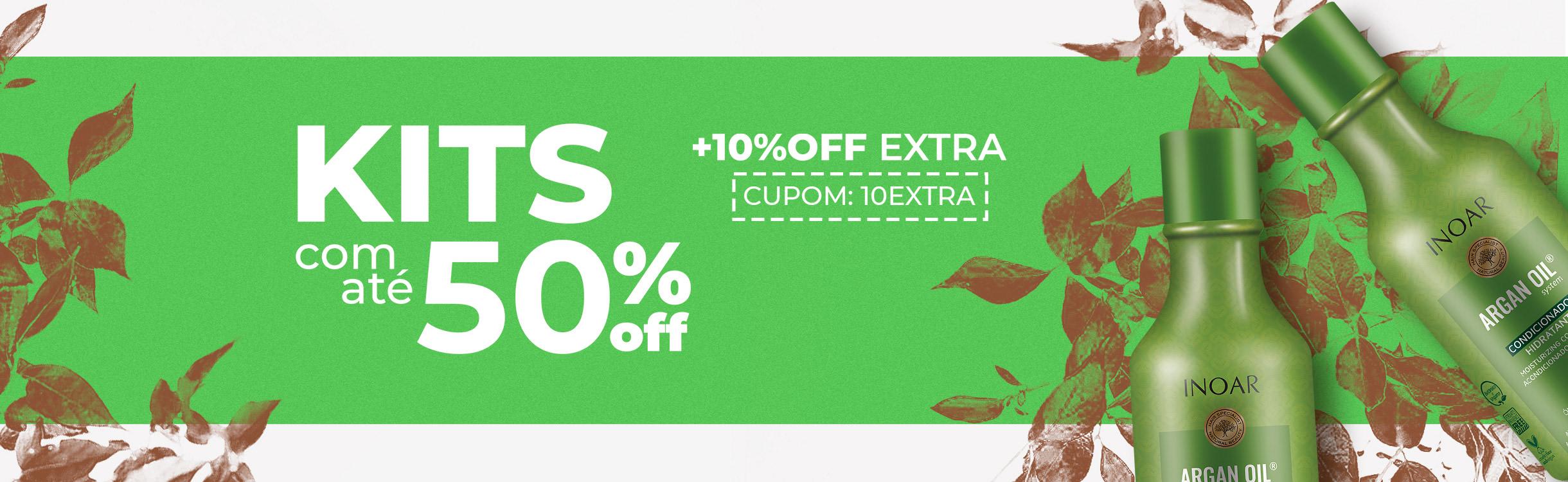 Descontos incríveis nos Kits com mais 10%OFF Extra