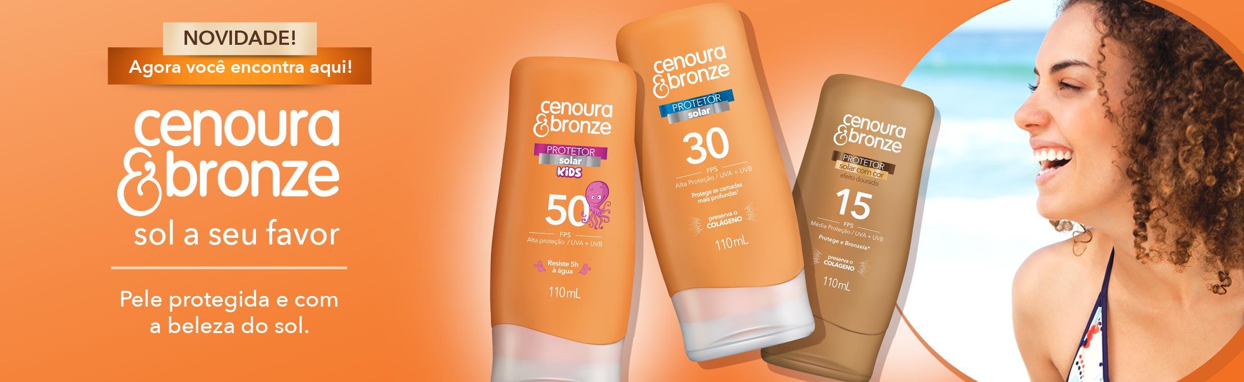 Cenoura e bronze/Cuidados para pele/Rosto