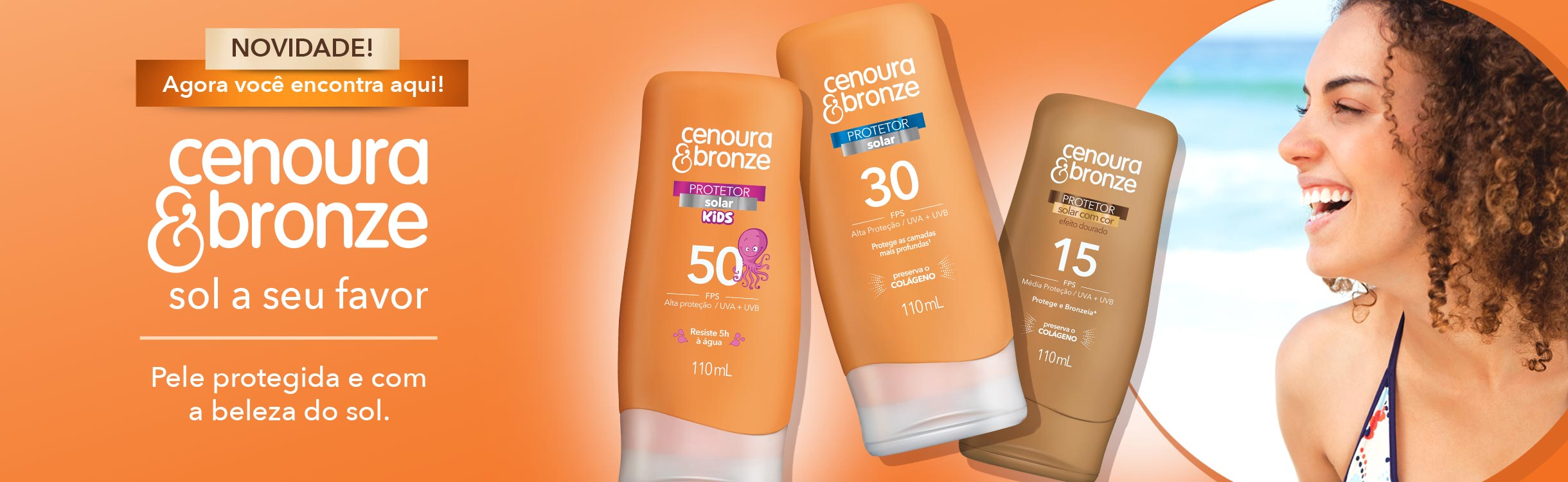 Cenoura e bronze/Corpo e banho/Protetor solar e bronzeamento
