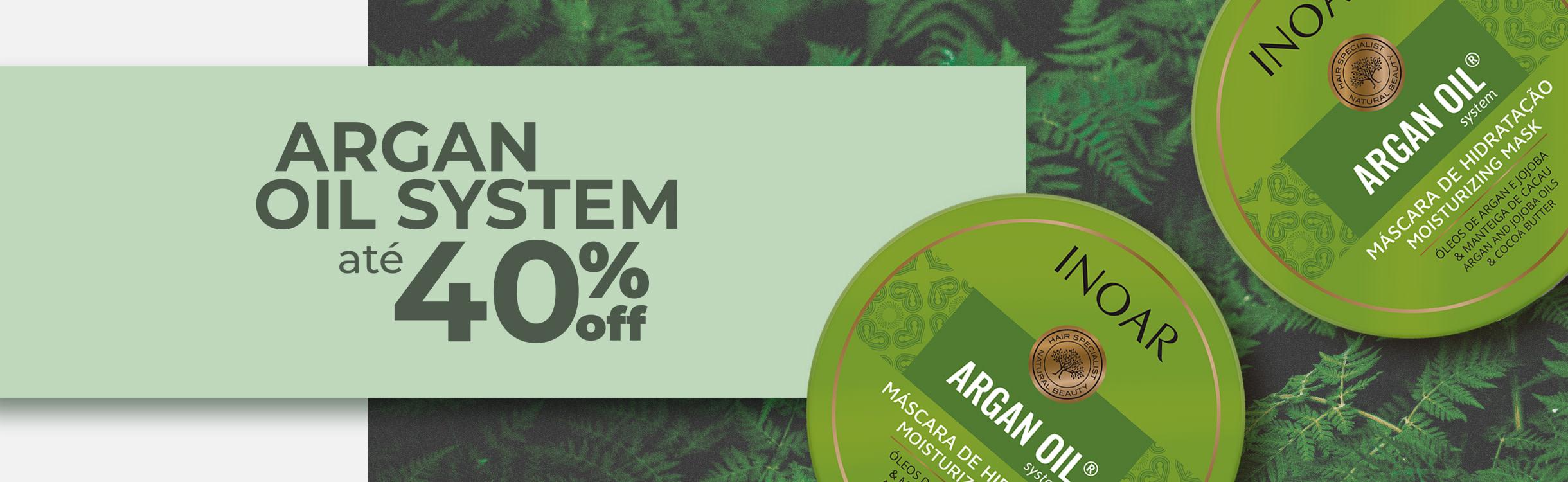 Argan Oil System até 40%OFF