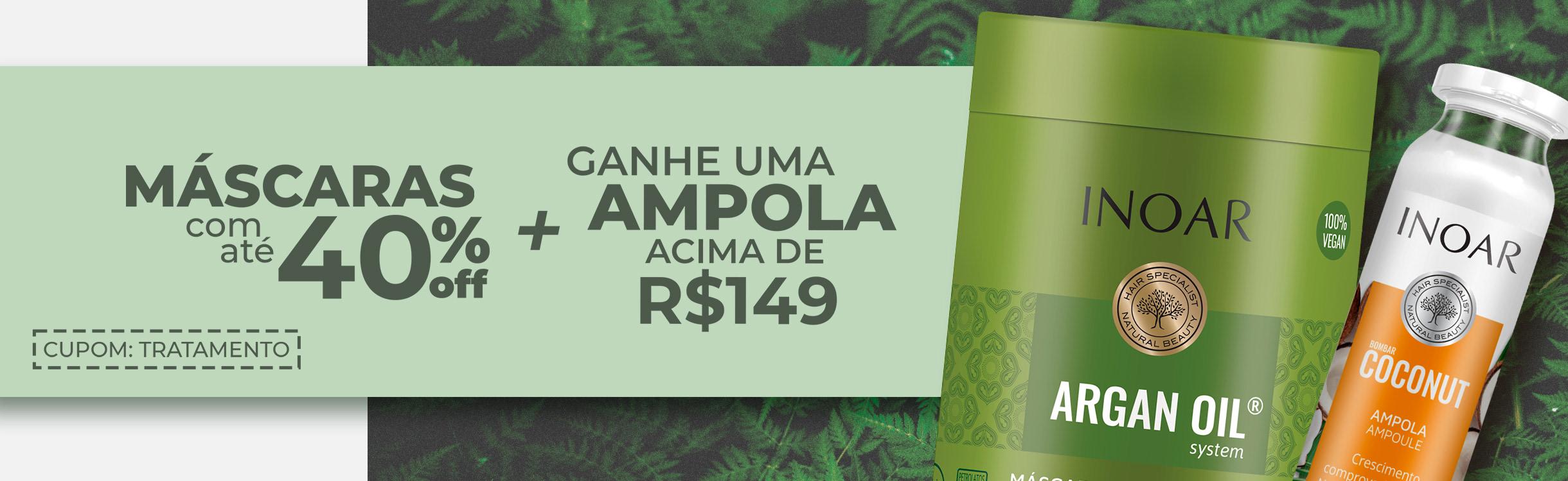 Máscaras com até 40%OFF + Ganhe ampola acima de R$149