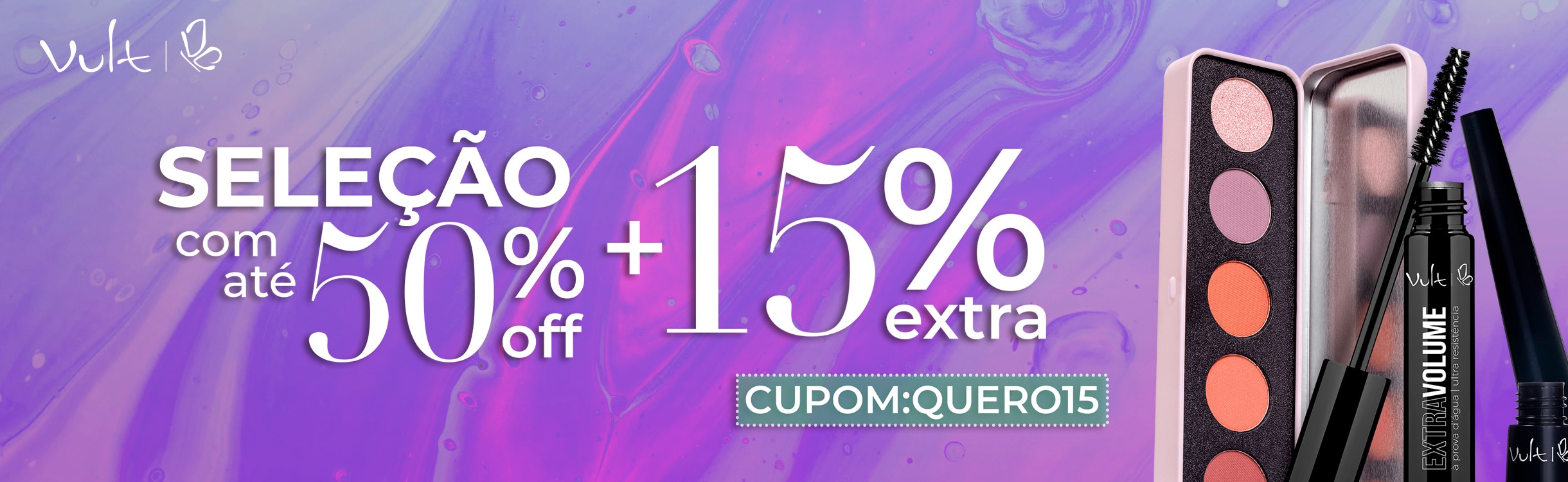 Ganhe 15% Extra nas suas compras