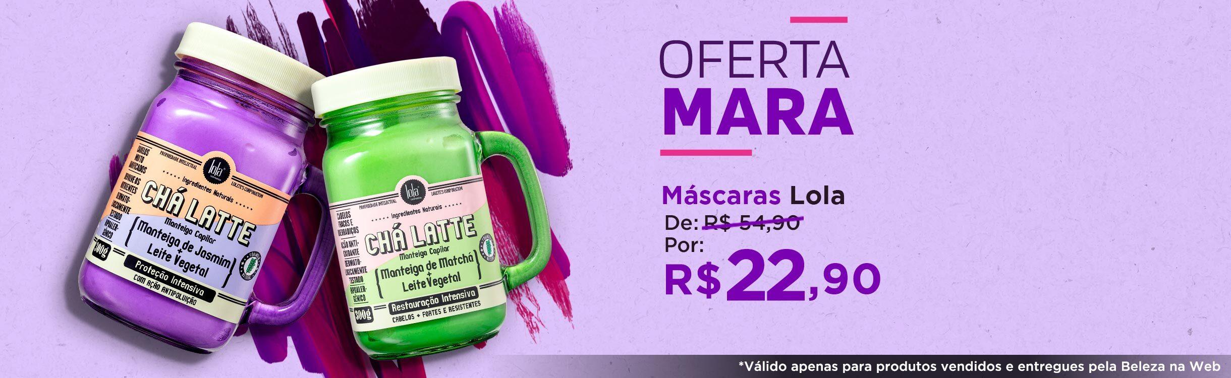 Lola Cosmetics   Máscaras Chá Latte