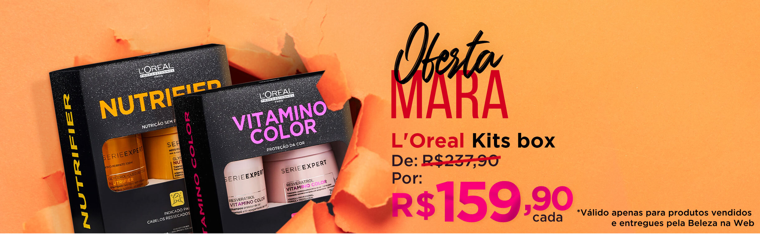 Oferta Mara | Loreal Kits Box Por R$159,90