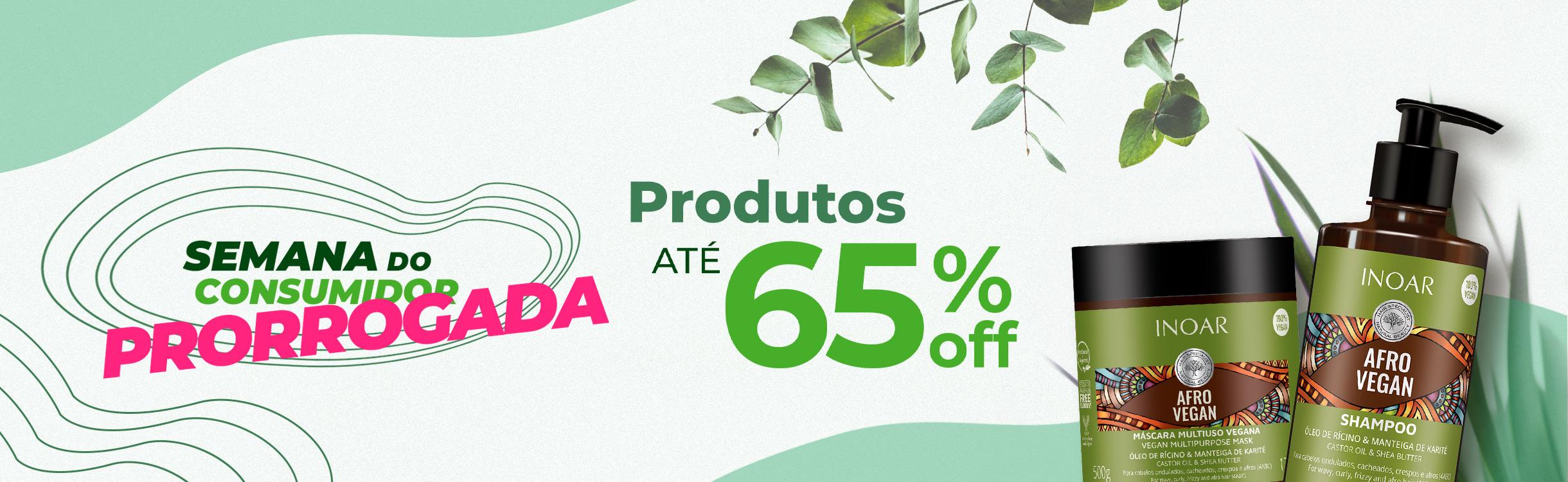 Produtos com até 65%OFF