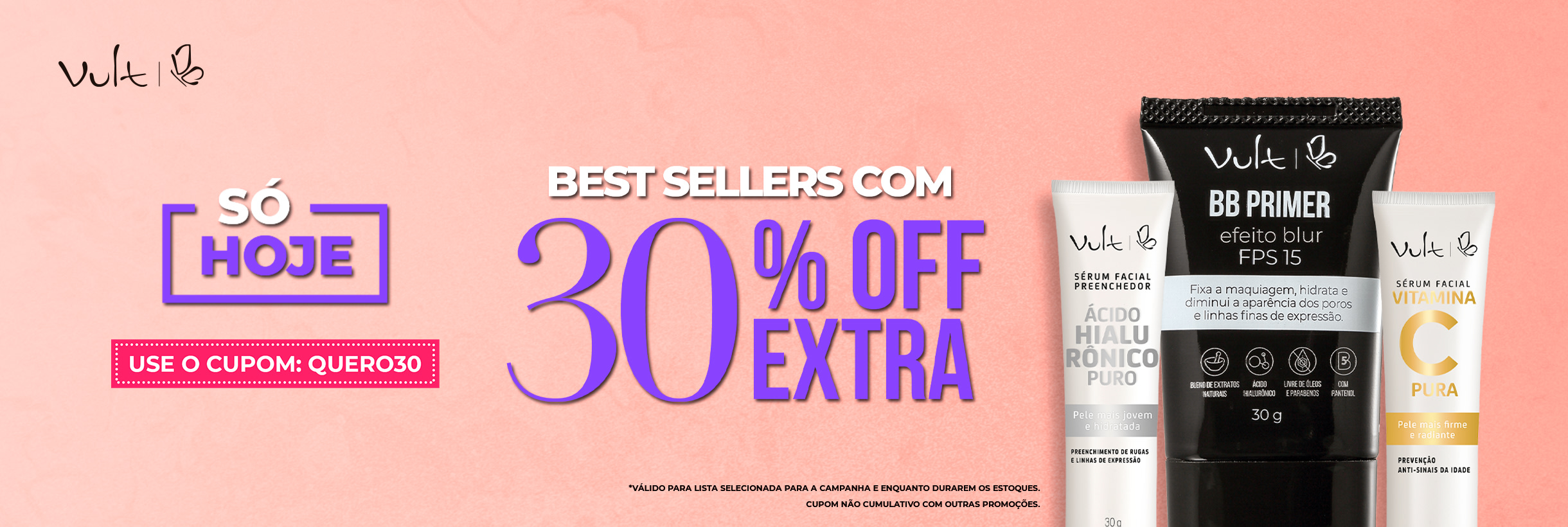Best Sellers com 30%OFF Extra