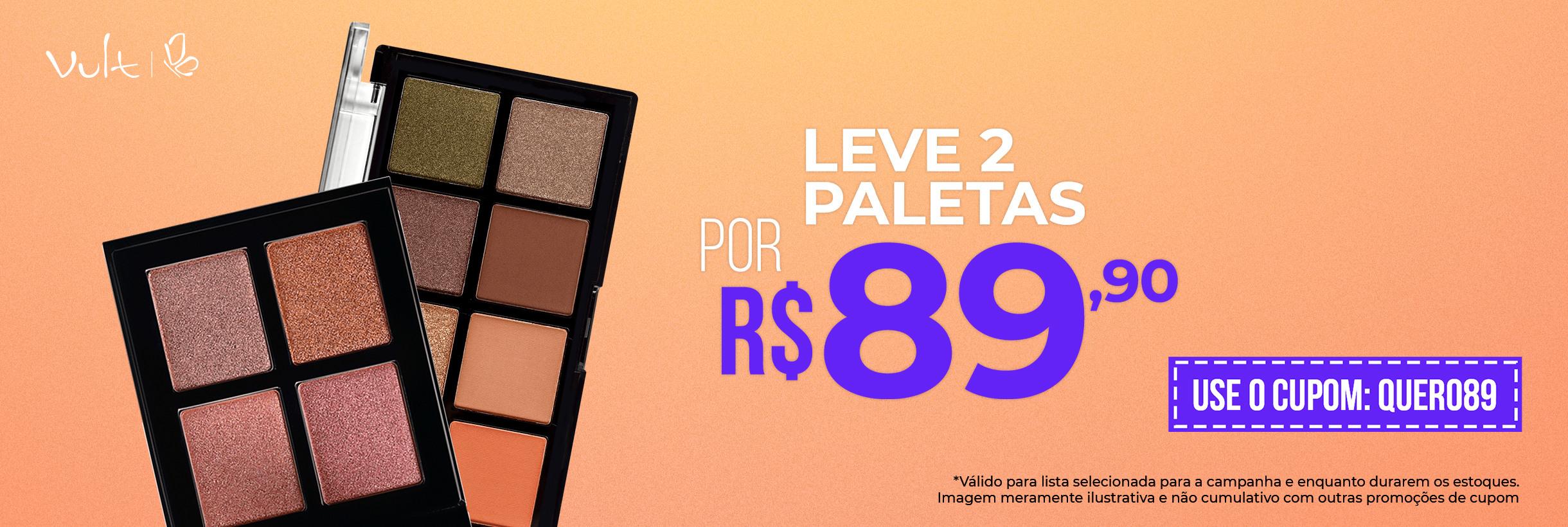 Leve 2 Paletas por R$89,90