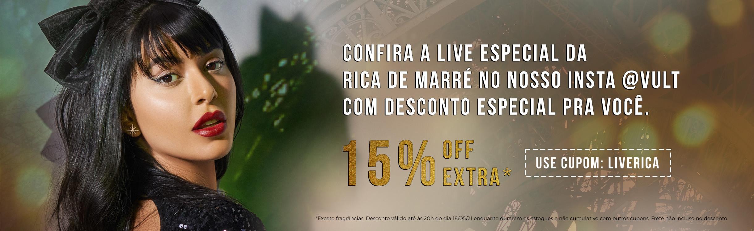 Live Rica de Marré hoje às 20hrs!