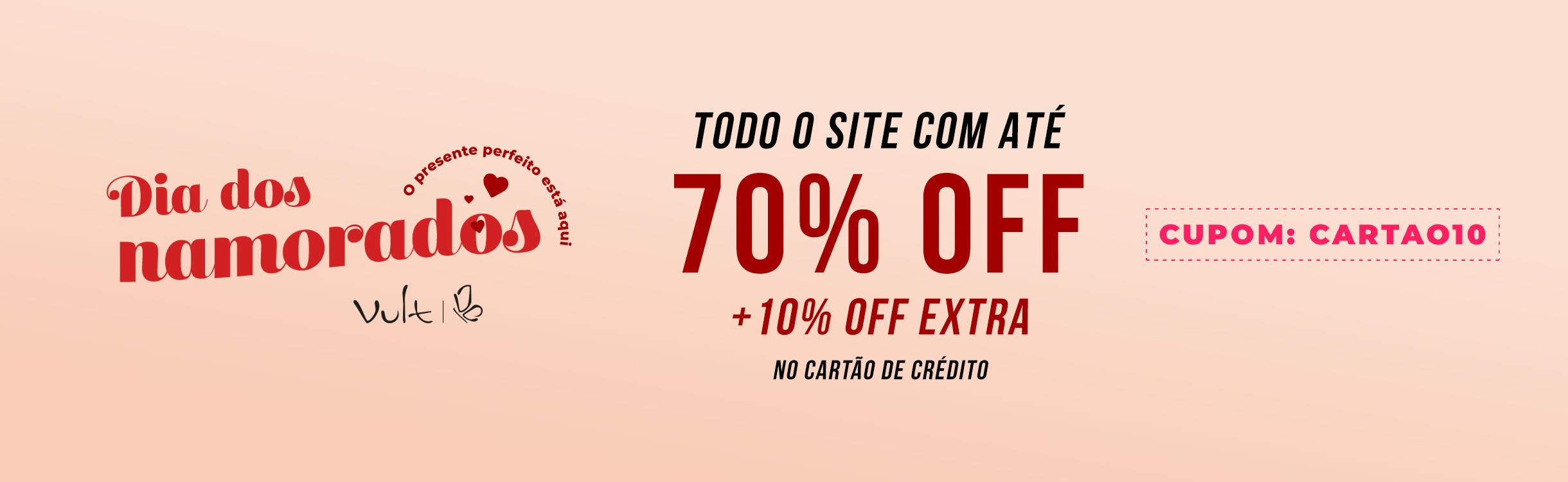 SITE TODO ATÉ 70% OFF + 10% OFF EXTRA