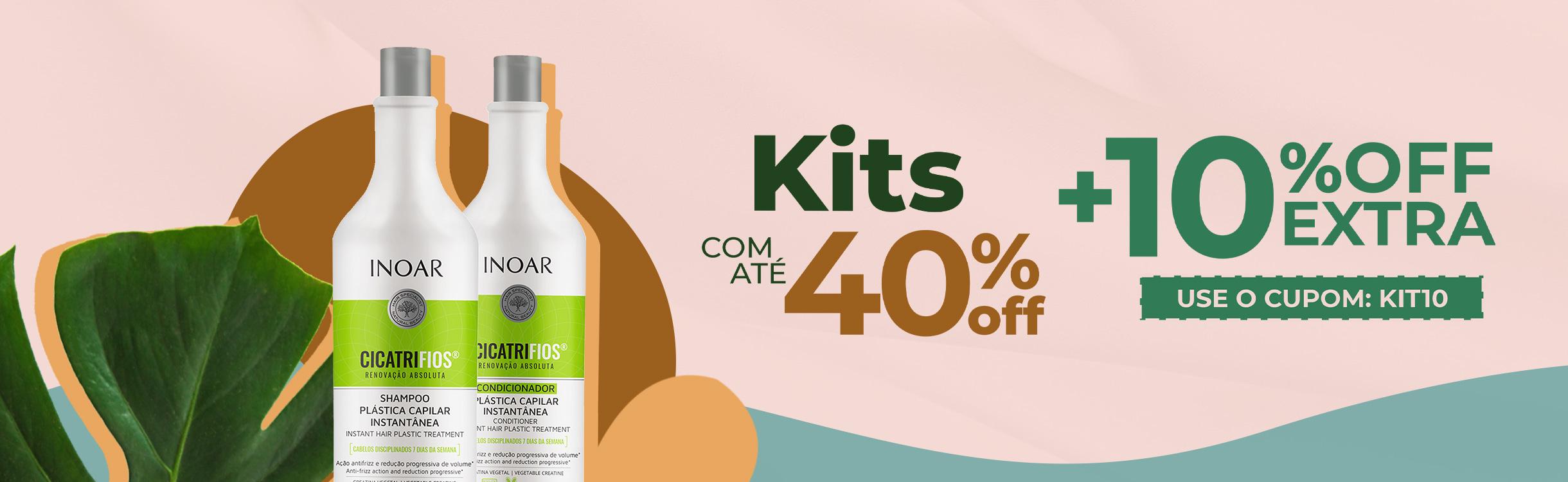 Kits com até 40% OFF + 10% OFF EXTRA