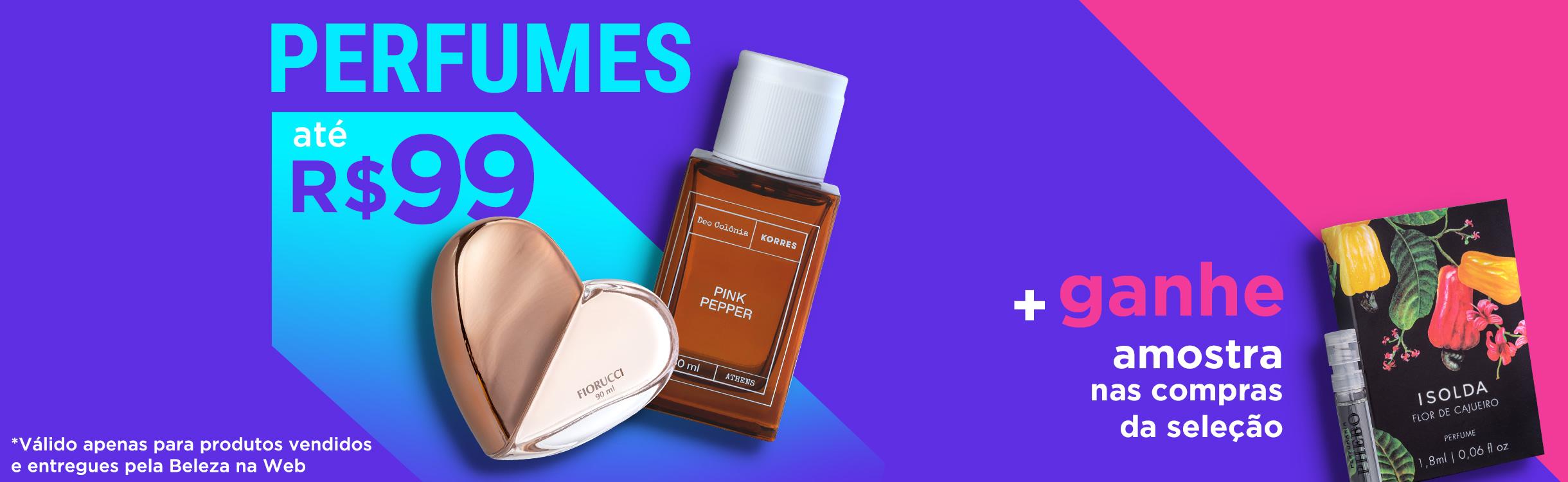 Perfumes e Perfumaria até R$99
