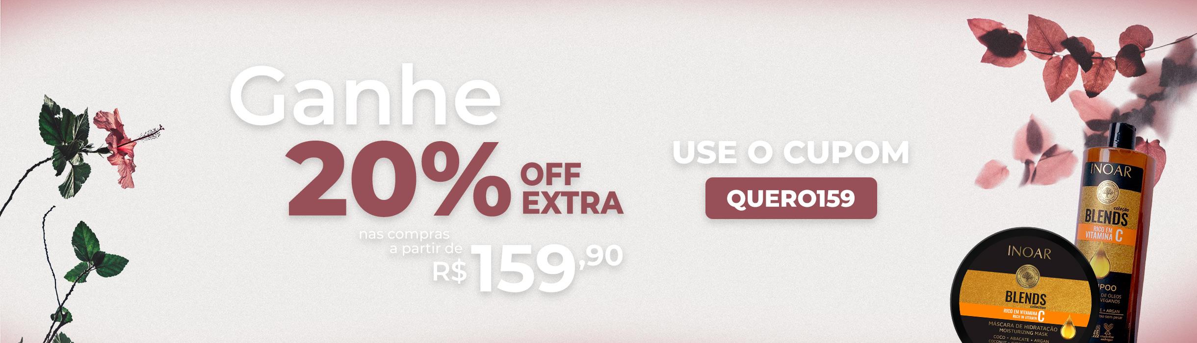 Ganhe até 20%OFF Extra nas suas compras!