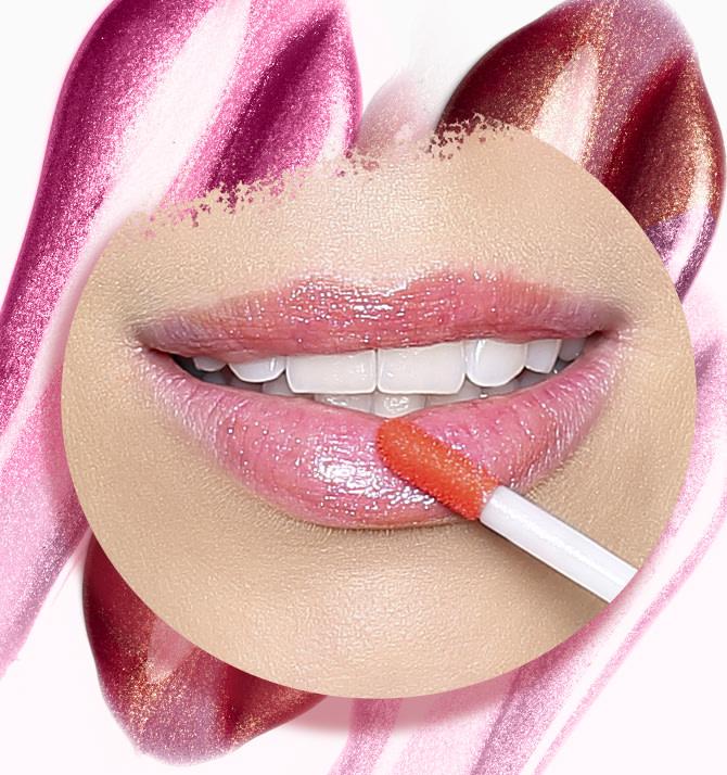 5bafc8016 O efeito espelhado que o gloss e o brilho labial confere à maquiagem é  proporcionado por um efeito óptico que dá aos lábios a impressão de serem  mais ...