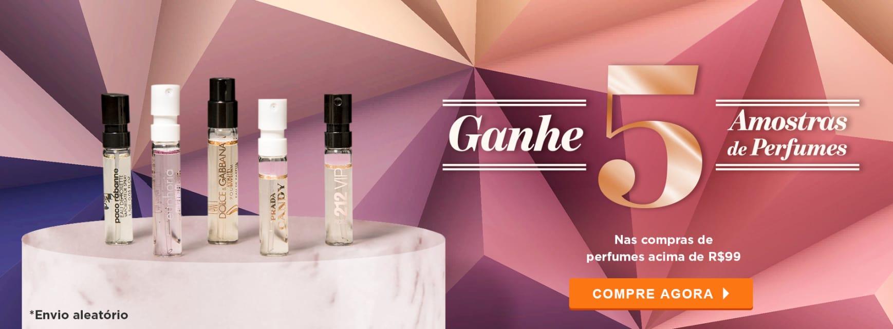 Perfumes: 5 Amostras em Perfumes JUNHO