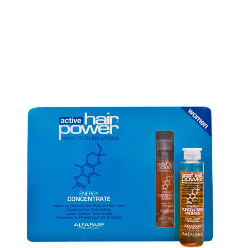 Alfaparf Active Hair Power Energy Women Concentrate - Ampola de Tratamento 6x15ml