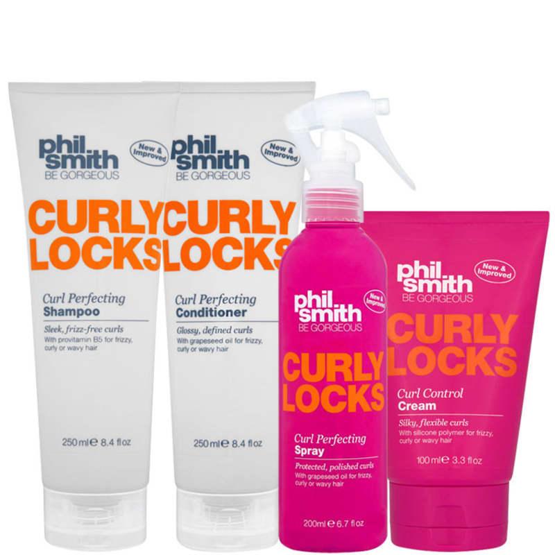Phil Smith Curly Locks Curl Perfecting Treatment Kit (3 Produtos)