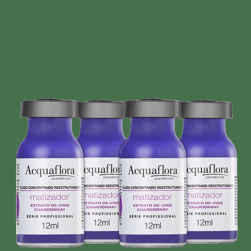 Acquaflora Antioxidante Fluído Concentrado Reestruturante - Ampola Matizadora 4x13ml