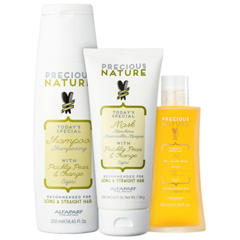 Kit Alfaparf Precious Nature Prickly Pear & Orange Trio (3 Produtos)