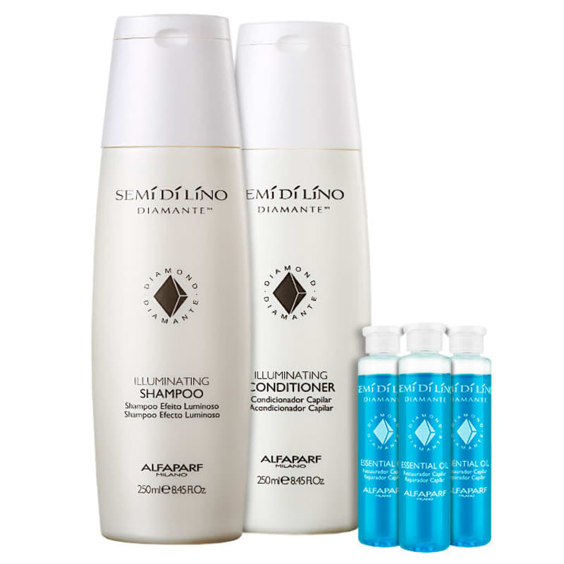 Kit Alfaparf Semi di Lino Diamante Essential Shine (3 Produtos)