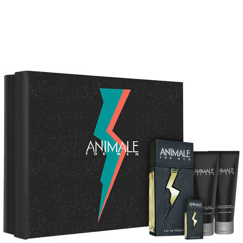 Conjunto Animale for Men Masculino - Eau de Toilette 100ml + Pós-Barba 100ml + Gel de Banho 100ml + Miniatura