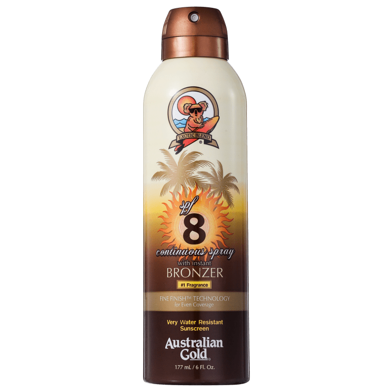 Australian Gold Continuous Spray Sunscreen With Instant Bronzer Spf 8 - Protetor Solar 177ml