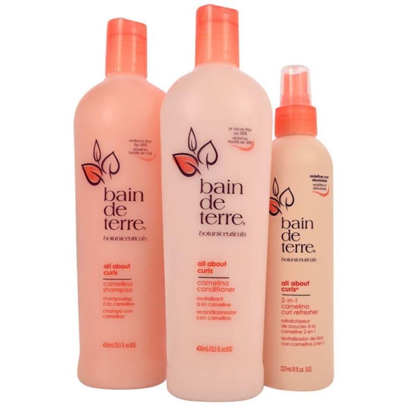 Bain de Terre All About Curls Camelina Refresh Kit (3 Produtos)